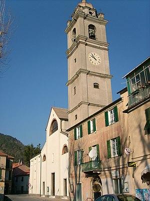 Quiliano - Church of San Lorenzo and its campanile