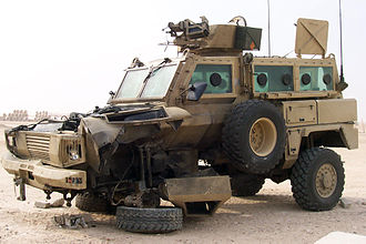 RG-31 Nyala - RG-31 Nyala damaged by a mine
