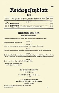 Nuremberg Laws Antisemitic and racist laws of Nazi Germany