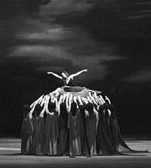 Scène finale du ballet Spartacus, lors d'une reprise au Bolchoï en 1968