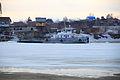 RT-458 breaks ice on Biya river.JPG