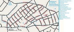 Rabbittown, St. John's - Map of Rabbittown