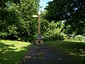 Radotín, hřbitov Na Pískách, hlavní kříž.jpg