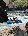 Rafting the rapids out of Shafer Meadows on the Middle Fork of the Flathead River (34264318246).jpg