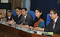 Raghuram G. Rajan addressing a Press Conference on the Economic Survey 2012-13, in New Delhi on February 27, 2013. The Principal Director General (M&C), Press Information Bureau, Smt. Neelam Kapur is also seen.jpg