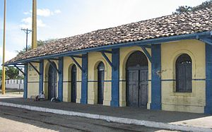 União dos Palmares - Photograph of the União dos Palmares rail station taken 16 October 2008.