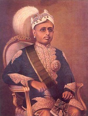 Moolam Thirunal - Maharaja Moolam Thirunal Rama Varma, portrait by Raja Ravi Varma.