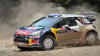 Acropolis Rally - Sébastien Ogier driving a Citroën DS3 WRC at the 2011 Acropolis Rally