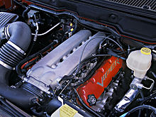 Dodge Ram Srt 10 Engine With Aftermarket Intake