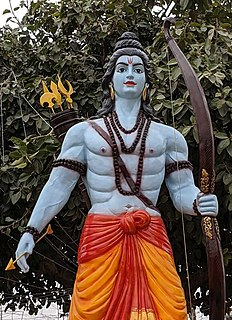 "<i>Jai Shri Ram</i> Phrase meaning ""Hail Lord Rama"", often chanted in Hinduism"