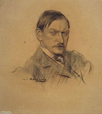Enric Galwey - Enric Galwey; portrait by   Ramon Casas.