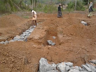 Rubble trench foundation - A rubble trench foundation