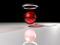 Raytraced red sphere with photon mapping.png