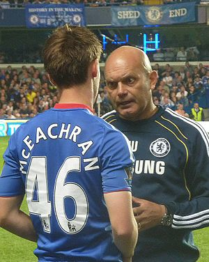 Ray Wilkins - Ray Wilkins in October 2010, giving advice to Chelsea's youngster Josh McEachran