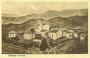 1915 postcards of Srednje