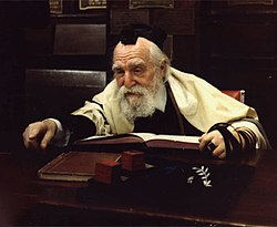 Rabbi Moshe Feinstein, a leading Rabbinical authority for Orthodox Jewry of the second half of the twentieth century.