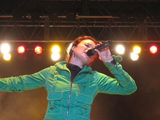 Rebecca St. James - Rebecca St. James performing at the Higher Ground Music Festival in August 2005