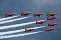 Red Arrows display at Portsmouth in July 2008 9.jpg