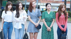 Red Velvet arriving at KBS Music Bank on August 17, 2018.png