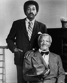 Demond Wilson (links) en Redd Foxx als Lamont en Fred Sanford