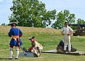 Reenactors demonstrating firing of a mortar (11) (22309941472).jpg
