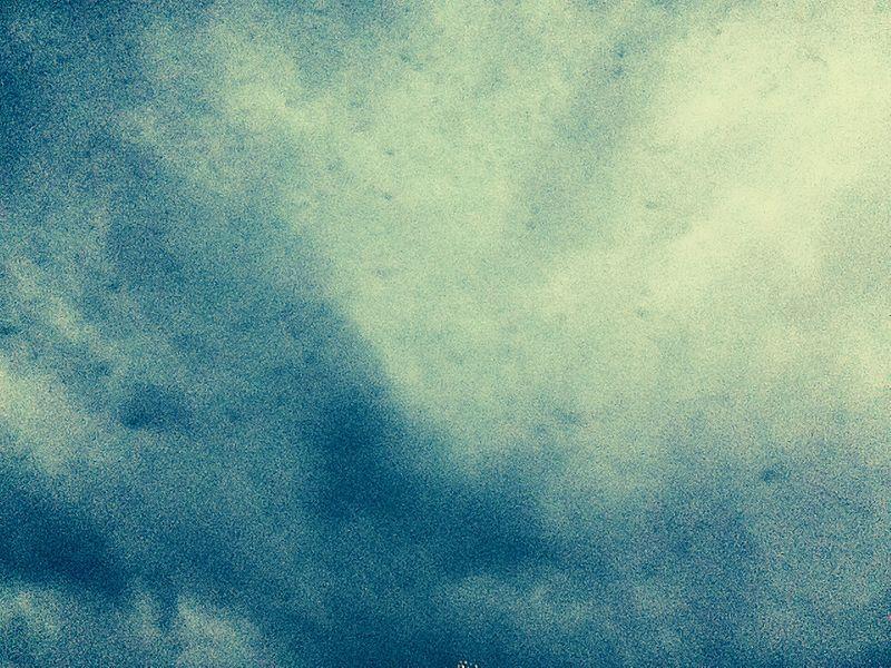 Hoe een iPod met effect het ziet als de lucht grauw is.