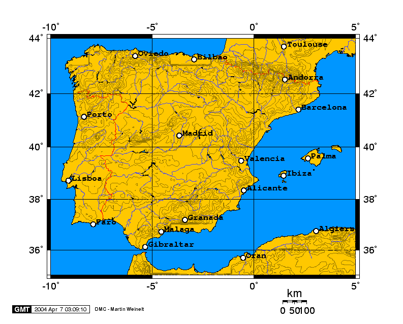 Relieve de Península Ibérica