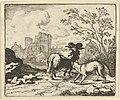 Renard Sends the Ram Back to the Lion with a Package Containing the Rabbit's Head from Hendrick van Alcmar's Renard The Fox MET DP837724.jpg