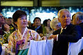 Republic of Korea President Park Guen-hye and Secretary of Defense Chuck Hagel listen to a toast during the 60th Anniversary Gala of the U.S.-Republic of Korea Alliance in the National Portrait Gallery in Washington 130507-D-BW835-904.jpg