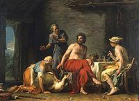 Restout - Philémon et Baucis donnant l'hospitalité à Jupiter et Mercure.jpg