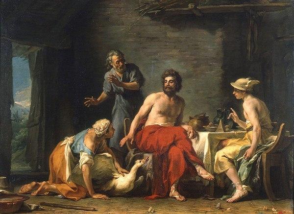 Restout - Philémon et Baucis donnant l'hospitalité à Jupiter et Mercure