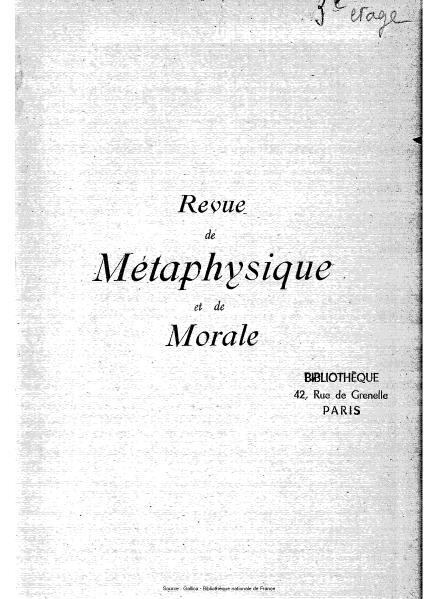 File:Revue de métaphysique et de morale, numéro 1, 1911.djvu