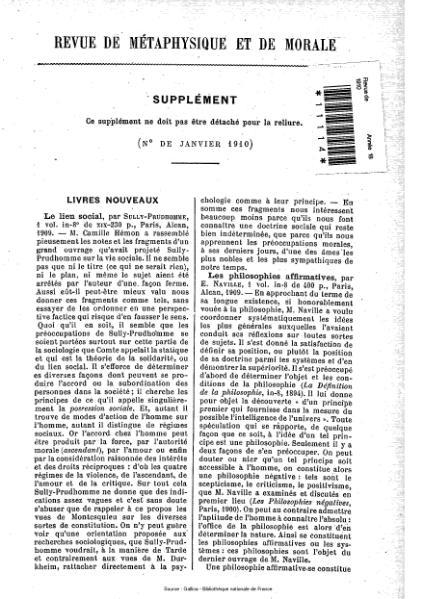 File:Revue de métaphysique et de morale, supplément 1, 1910.djvu