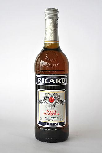 Ricard (drink) - A bottle of Ricard