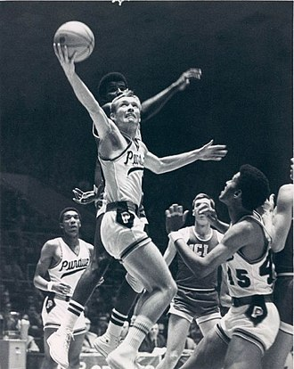 Rick Mount - Purdue's Rick Mount goes for the layup against the UCLA Bruins.
