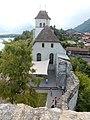 Ringgenberg, église. Vue depuis la grande tour du château.jpg