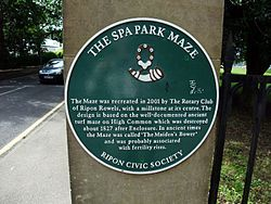 Photo of Spa Park Maze green plaque