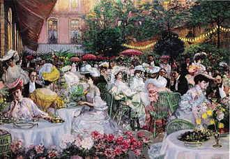 Pierre-Georges Jeanniot - The Ritz garden café, Paris, France