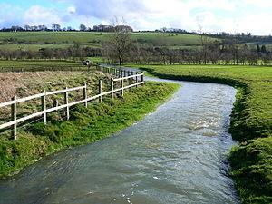 River Og - River Og, near Ogbourne St Andrew.