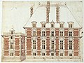 River façade of the Hôtel de Nevers in Paris – Gallica btv1b52508848c (adjusted).jpg