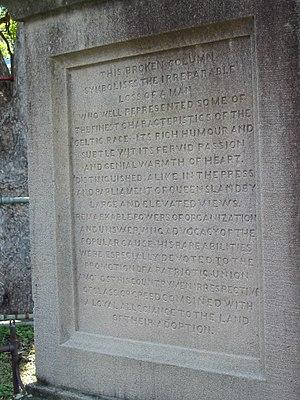 Robert Travers Atkin - Image: Robert Travers Atkin monument detail