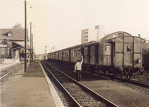 Rodgau Railway - Jügesheim station on the Rodgau Railway in 1978