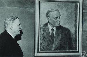 Rolf Nevanlinna - Nevanlinna and his portrait.