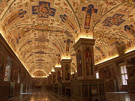Rome, Vatican Museums, Great Library Hall, Salone Sistino 2.JPG