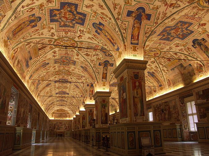 Rom, Vatikanische Museen, Großer Saal der Bibliothek, Salone Sistino 2