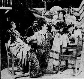 Rose of the Rancho - 1915 newspaper - scene.jpg