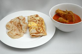 Roti - Kerala / Ceylon roti (porotta) served with curry