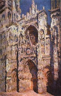 <i>Rouen Cathedral</i> (Monet series) series painted in the 1890s by Claude Monet