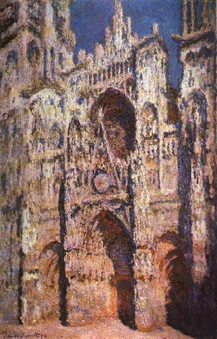 Rouen Cathedral, Full Sunlight, by Claude Monet, 1894. RouenCathedral Monet 1894.jpg