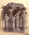 Ruins of Siddhanath Hindu temple at Mandhata, Nimar District, Maharashtra, 1893 photo.jpg